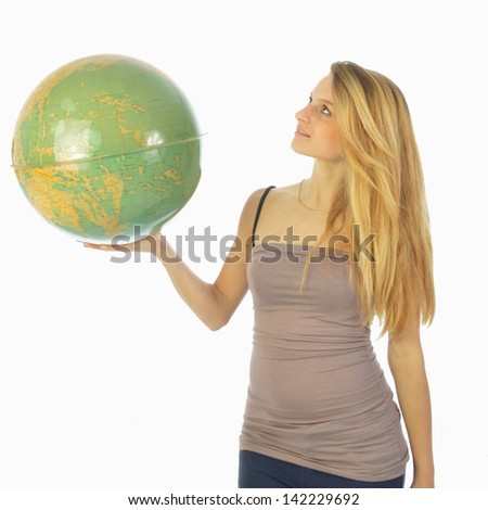 The world at your fingertips 038 - stock photo