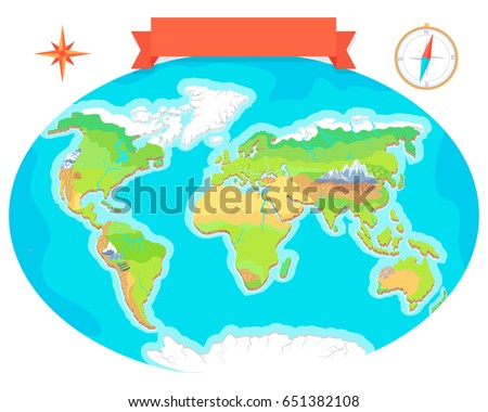 World geographical map names continents oceans stock illustration world geographical map names continents oceans stock illustration 651382108 shutterstock gumiabroncs Images