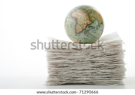 the world of recycling - stock photo