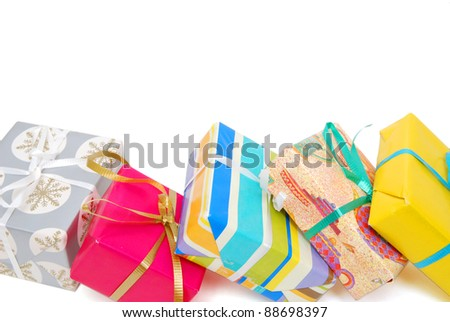 the wrapping gifts background