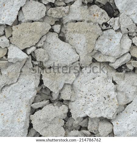 The wreckage of concrete - seamless background - stock photo