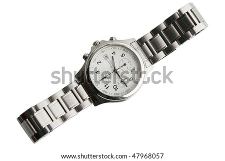 the wrist watches isolated on white background - stock photo
