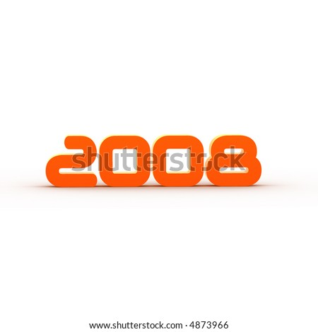the year 2008 - illustration - stock photo