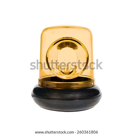 The yellow Flasher isolated - stock photo
