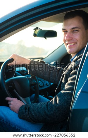 The young man behind the wheel