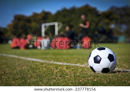 The young Soccer Team - stock photo