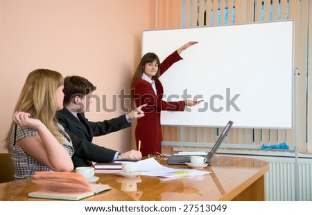 The young woman to speak at a meeting