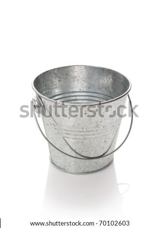 The zinked bucket on a white background - stock photo
