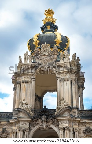 The Zwinger (Der Dresdner Zwinger) is a palace built in Rococo style in Dresden, Germany - stock photo