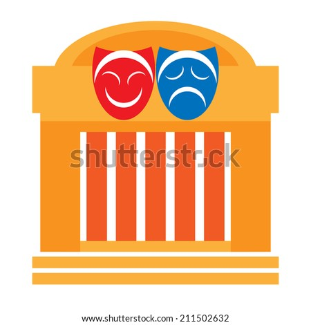 Theater and drama masks - stock photo