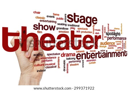 Theater concept word cloud background - stock photo