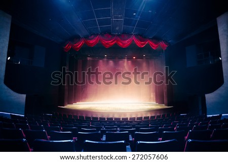 Theater curtain and stage with dramatic lighting & Theatre Stage Stock Images Royalty-Free Images u0026 Vectors ... azcodes.com