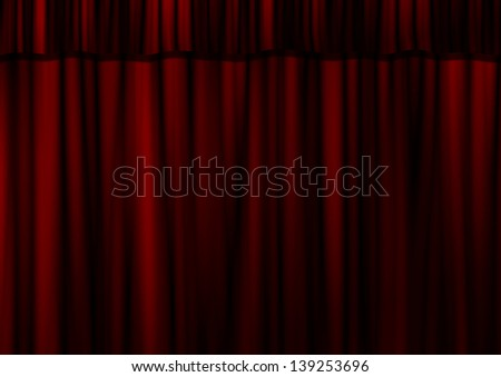 Theater curtain in red