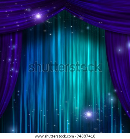 Theater Curtains - stock photo