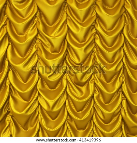Theater drapes. 3d background - stock photo