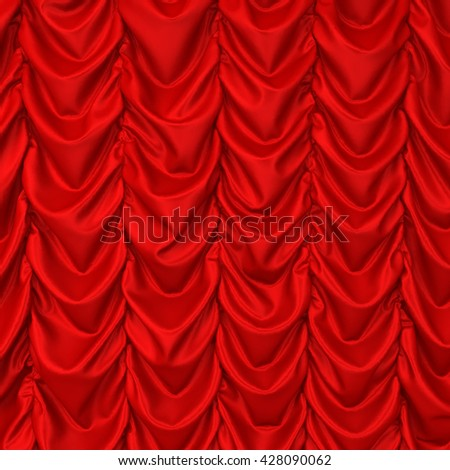 Theater drapes. 3d background