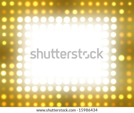 Theater Marquee Lights - stock photo