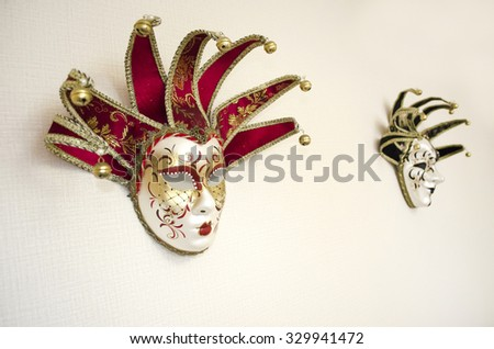 Theater/masquerade mask (selective focus)