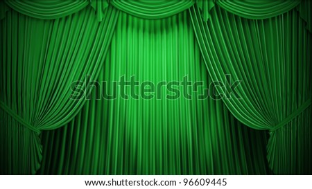 Theater or stage curtain backdrop - stock photo