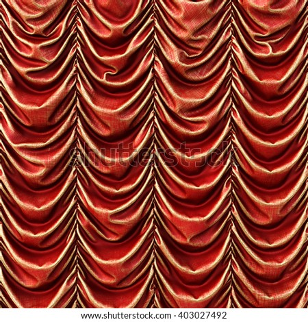 theater red curtains. 3D illustration - stock photo
