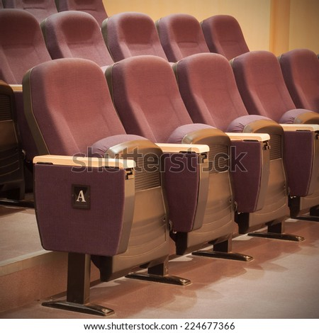 Theater seats or Conference hall  - stock photo