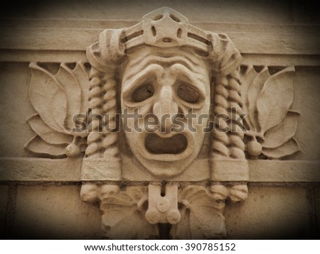theatre mask - stock photo