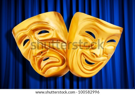 Theatre performance concept with masks