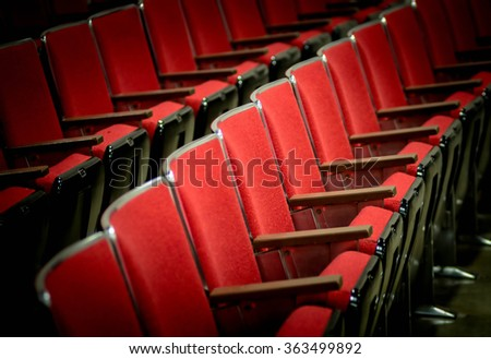 Theatre seating - stock photo
