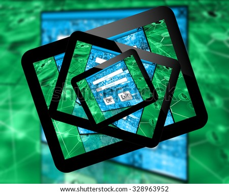 theme of computers, Internet and high technology. - stock photo