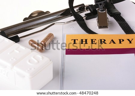 Theme of the hospital industry, ID Card, tablets and a box for tablets. - stock photo