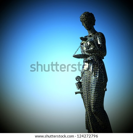 Themis against the  blue sky - stock photo