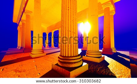 Themis - lady of justice in court - stock photo