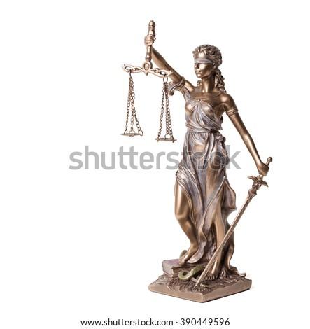 Themis on white background  - stock photo