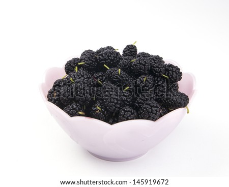 there is an isolated mulberry in the image