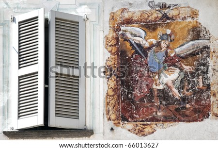 There is something going on outside my window - stock photo