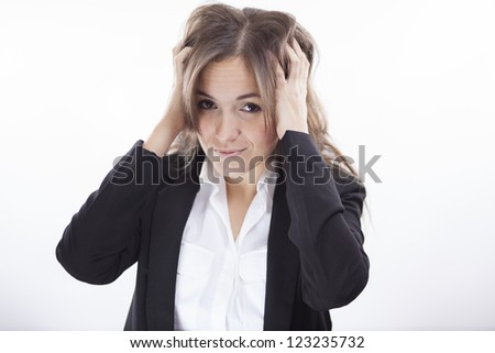 There's so much stress at work! - stock photo