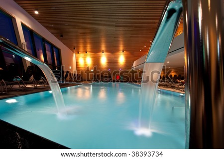 thermal bath - stock photo