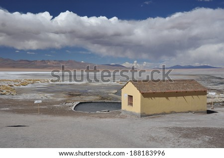 Thermal bath / Springs in pure nature, Sur Lipez, Bolivia