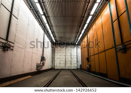 Thermal control train station - stock photo