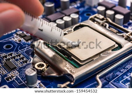 Thermal grease for computer - stock photo