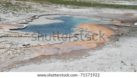 Thermal Hot Pool - stock photo