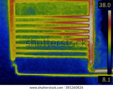 Thermal Image of Heating Element - stock photo