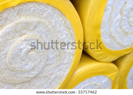 Thermal insulation material - stock photo