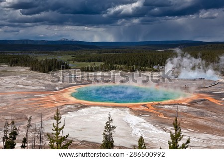 Thermal pool in Yellowstone national park - USA