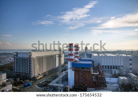 thermal power plant - stock photo