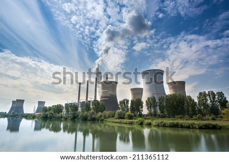 Thermal power station - Turceni, Romania - stock photo