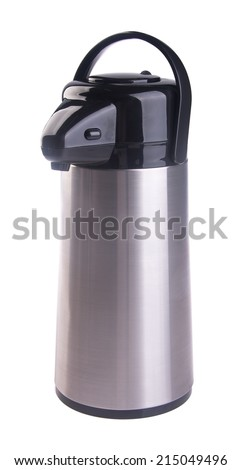Thermo flask. Thermo flask on the background - stock photo