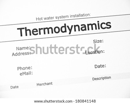 Thermodynamics Purchase Contract Stock Photo   Shutterstock