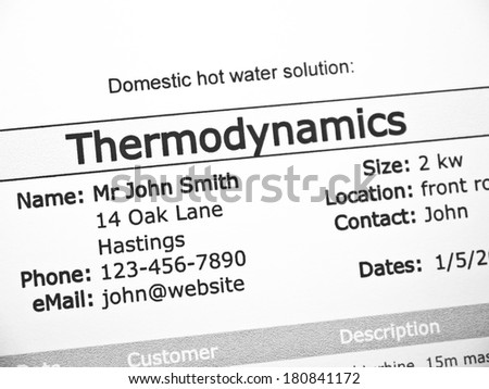 Thermodynamics purchase contract