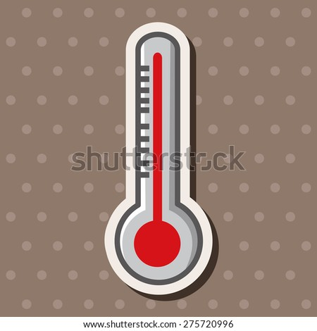 Thermometer , cartoon sticker icon